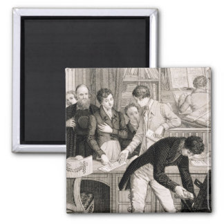 At the Bank, c.1800 (engraving) Fridge Magnet