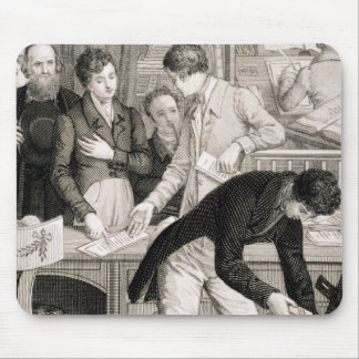 At the Bank, c.1800 (engraving) Mouse Mat