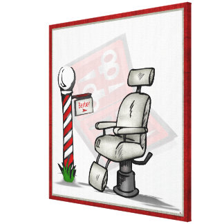 At The Barber Shop Decor Gallery Wrap Canvas