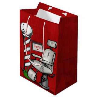 At The Barber Shop Medium Gift Bag