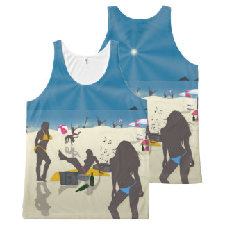 At the Beach All-Over Print Tank Top