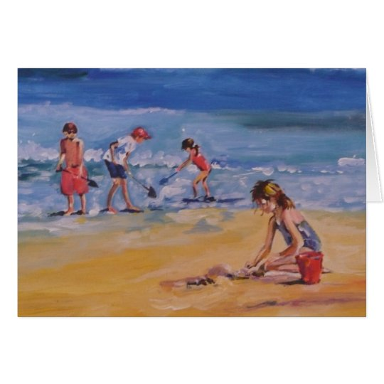 At the beach card