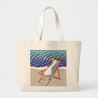 At The Beach Large Tote Bag
