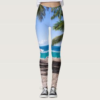 At the beach leggings