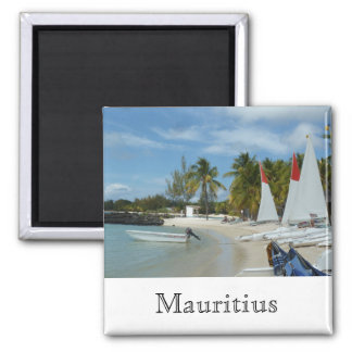 At the beach of Mauritius Magnet
