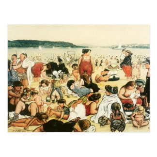 At The Beach - Vintage motive - Zille Postcard