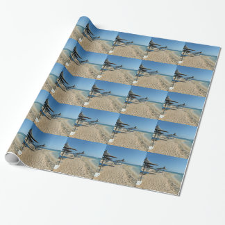 At the beach wrapping paper