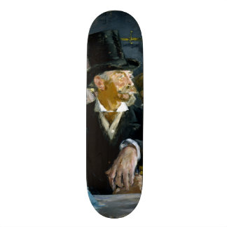 At the Cafe by Edouard Manet 19.7 Cm Skateboard Deck