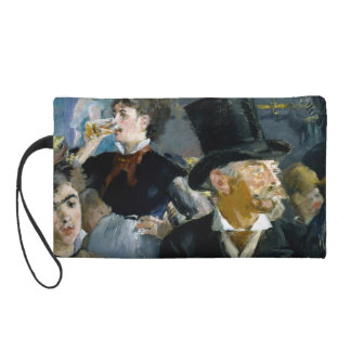 At the Cafe by Edouard Manet Wristlet Purse