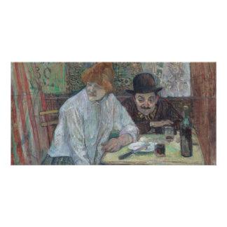 At the Cafe La Mie by Henri de Toulouse-Lautrec Custom Photo Card