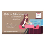 At the Cafe/Pastry Shop Business Cards