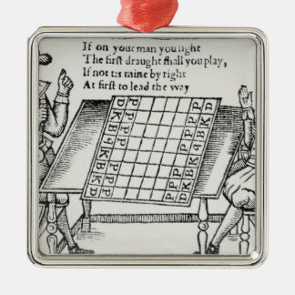 At the Chess Board Christmas Ornament