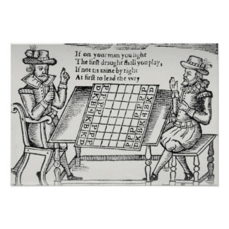 At the Chess Board Poster