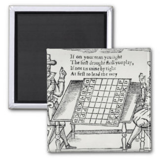 At the Chess Board Square Magnet