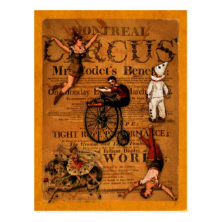 At the Circus Postcard