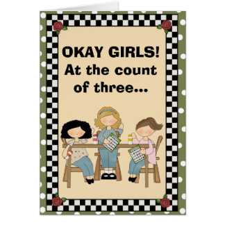 At the count of three... greeting card
