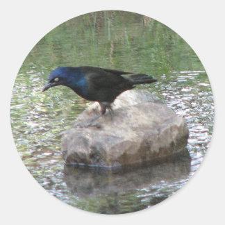 At the Creek Round Sticker