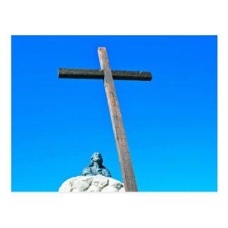 At the cross postcard