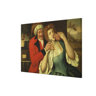At the Dentist (oil on canvas) Canvas Print
