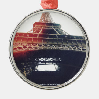 At the feet of Tour Eiffel Christmas Ornament