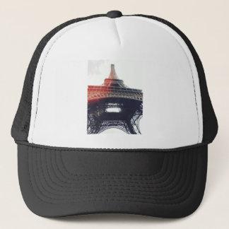 At the feet of Tour Eiffel Trucker Hat