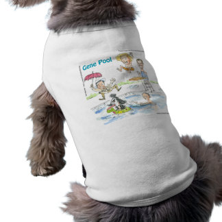 At The Gene Pool Funny Gifts Cards & Tees Sleeveless Dog Shirt