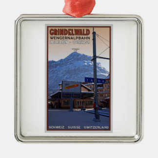 At the Grindelwald Train Station Christmas Ornament