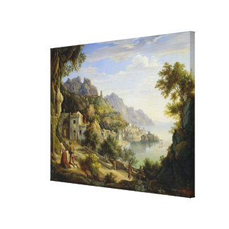 At the Gulf of Salerno, 1826 Canvas Prints