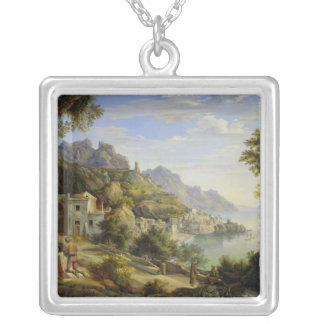 At the Gulf of Salerno, 1826 Silver Plated Necklace
