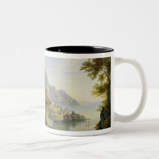 At the Gulf of Salerno, 1826 Two-Tone Coffee Mug