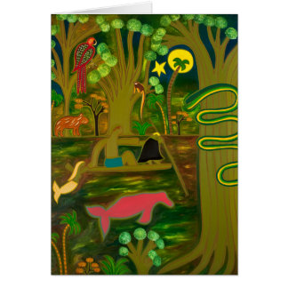 At the Heart of the Amazon River 2010 Greeting Card