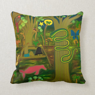 At the Heart of the Amazon River 2010 Throw Pillow