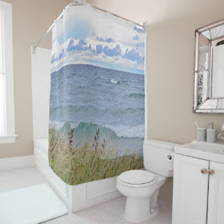 """""""AT THE LAKE"""" SHOWER CURTAIN"""