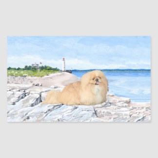 At the Lighthouse Rectangular Sticker