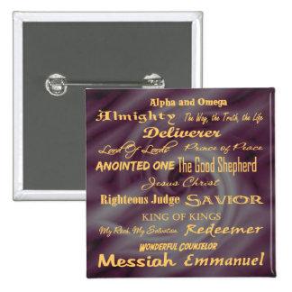 at the name of Jesus... 15 Cm Square Badge