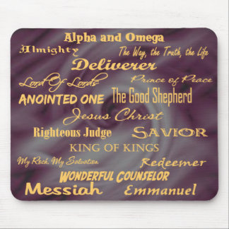 at the name of Jesus... Mouse Mat