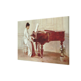 At the Piano, 1887 (oil on canvas) Gallery Wrapped Canvas