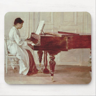 At the Piano, 1887 (oil on canvas) Mouse Mat