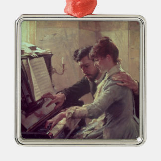 At the Piano Christmas Ornament