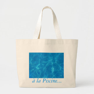 at the pool canvas bags