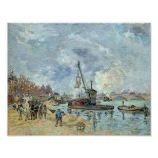 At the Quay de Bercy in Paris, 1874 Poster