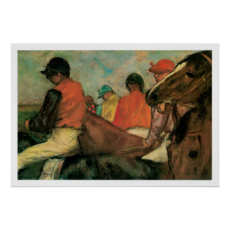At the Races 1877 Vintage Art Print Poster