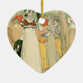 At the races on the Champ de Mars Ceramic Heart Decoration