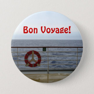 At the Railing Bon Voyage 7.5 Cm Round Badge