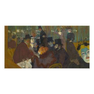 At the Rouge by Henri de Toulouse-Lautrec Picture Card