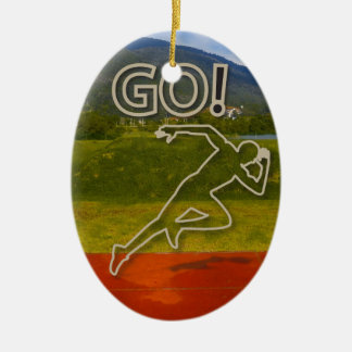 At the Running Track Ornament