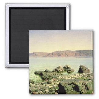 At the Sea of Galilee, 1888 Square Magnet