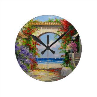 At the sea shore round clock