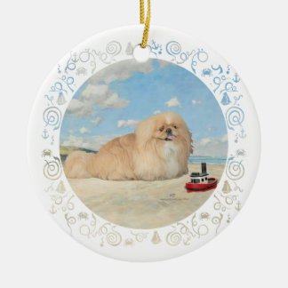 At the Seashore Christmas Ornament
