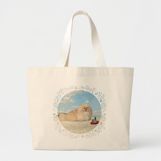 At the Seashore Large Tote Bag